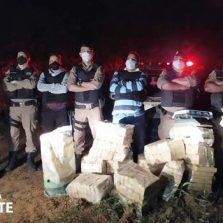 Polícia Militar apreende cerca de 250 quilos de drogas em Cajuri