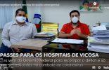 Hospitais de Viçosa recebem mais de 3 milhões de reais para combate ao coronavírus