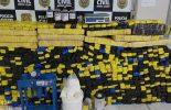 PCMG desarticula laboratório e apreende 680 quilos de drogas