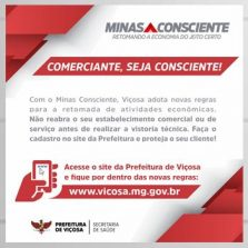 Decretos municipais continuam em vigor mesmo com adesão ao Minas Consciente