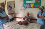Idoso do Lar dos Velhinhos comemora aniversário de 101 anos