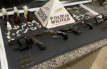 Drogas e armas apreendidos durante operação na zona rural do Juquinha de Paula